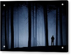 Man In Forest Acrylic Print