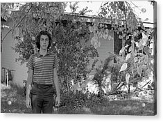 Man In Front Of Cinder-block Home, 1973 Acrylic Print