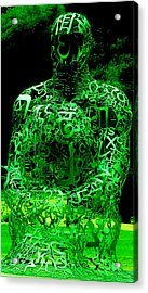 Man In Green Acrylic Print
