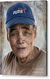 Man In The Cap Acrylic Print