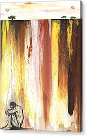 Man In The Corner  Acrylic Print by Anthony Burks Sr