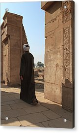 Acrylic Print featuring the photograph Man In The Temple by Silvia Bruno