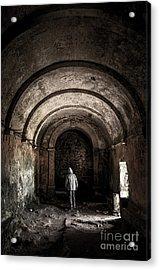 Man Inside A Ruined Chapel Acrylic Print