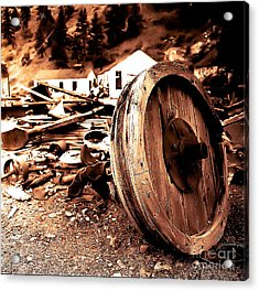 Man Inventid The Wheel Acrylic Print