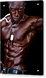 Man Made Of Dark Chocolate Acrylic Print