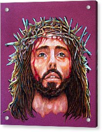 Man Of Sorrows No 3 Acrylic Print by Edward Ruth