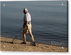 Man On The Beach Acrylic Print by Paul SEQUENCE Ferguson             sequence dot net