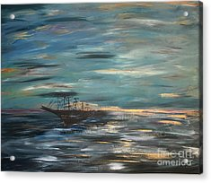 Man Overboard Part One Acrylic Print by Heather McKenzie