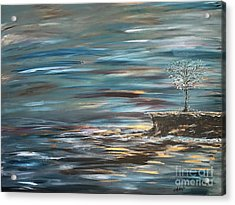 Man Overboard Part Two Acrylic Print by Heather McKenzie