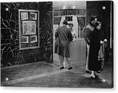 Man Purchasing A Movie Ticket Acrylic Print by Everett