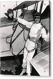 Man Ready To Skydive Acrylic Print by Underwood Archives