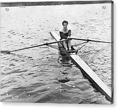 Man Rowing A Scull Acrylic Print