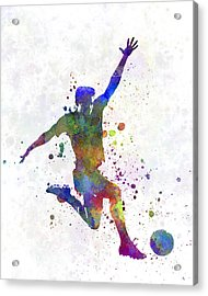 Man Soccer Football Player 05 Acrylic Print