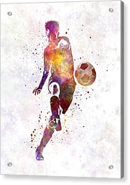 Man Soccer Football Player 10 Acrylic Print