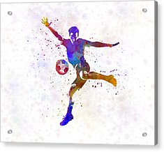 Man Soccer Football Player 14 Acrylic Print