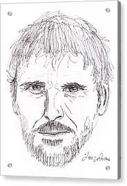 Man Staring Acrylic Print by M Valeriano
