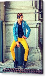 Man Street Fashion Acrylic Print