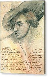 Man Study Acrylic Print by Juan Bosco