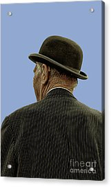 Man With A Bowler Hat Acrylic Print