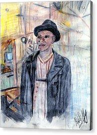 Man With A Harmonica Acrylic Print by Deborah Duffy