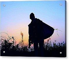 Man With Bag Acrylic Print