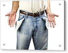 Man With Empty Pockets Acrylic Print