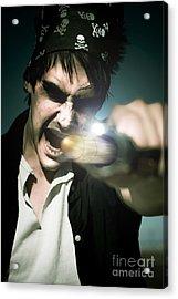 Man With Gun Acrylic Print by Jorgo Photography - Wall Art Gallery