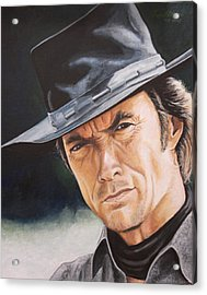 Man With No Name Acrylic Print by Kenneth Kelsoe