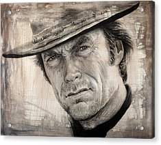 Man With No Name Sepia Splash Acrylic Print by Andrew Read
