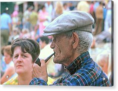 Acrylic Print featuring the photograph Man With Pipe by Douglas Pike