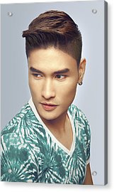 Man With Short Back And Sides Modern Hairstyle Acrylic Print