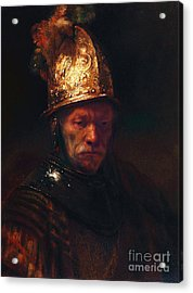 Man With The Golden Helmet Acrylic Print by Pg Reproductions