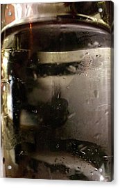 Man With Tray Walking Past Water Bottle Acrylic Print by Anna Villarreal Garbis