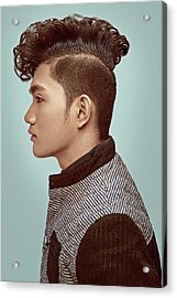 Man With Upscale Mohawk Hairstyle Acrylic Print