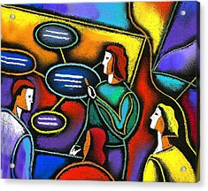 Acrylic Print featuring the painting Manager  by Leon Zernitsky
