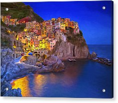 Manarola By Moonlight Acrylic Print
