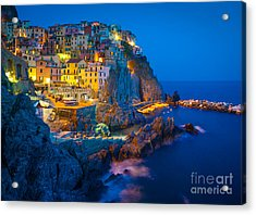 Manarola By Night Acrylic Print