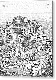 Manarola Cinque Terra Italy Acrylic Print