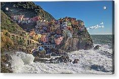 Manarola In Cinque Terre  Acrylic Print