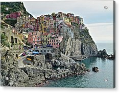 Acrylic Print featuring the photograph Manarola Version Three by Frozen in Time Fine Art Photography