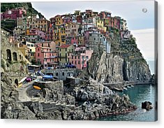 Acrylic Print featuring the photograph Manarola Version Two by Frozen in Time Fine Art Photography