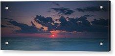 Manasota Sunset Acrylic Print by Ryan Heffron