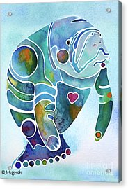 Acrylic Print featuring the painting Manatee Blues by Jo Lynch