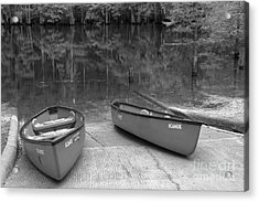 Manatee Springs Black And White Boat Launch Acrylic Print by Adam Jewell