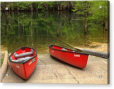 Manatee Springs Boat Launch Acrylic Print by Adam Jewell