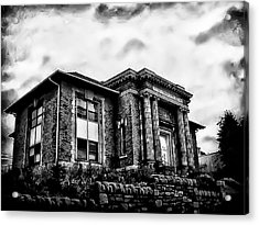 Manayunk Branch Of The Free Library Of Philadelphia Acrylic Print by Bill Cannon