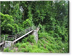 Manayunk - Steps From The Wissahickon Train Station Acrylic Print by Bill Cannon