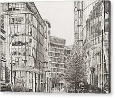 Manchester  Deansgate Acrylic Print by Vincent Alexander Booth