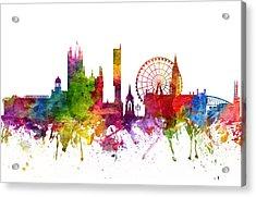 Manchester England Cityscape 06 Acrylic Print