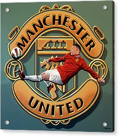 Manchester United Painting Acrylic Print